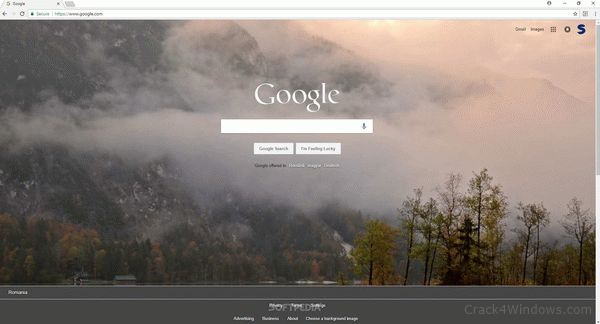 How to crack Background Image for Google Homepage