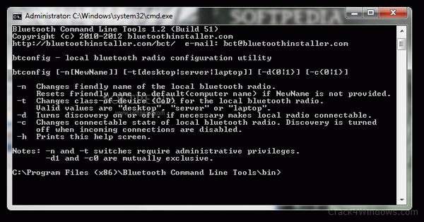 How to crack Bluetooth Command Line Tools