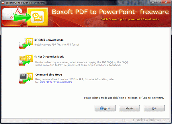 How to crack Boxoft PDF to PowerPoint