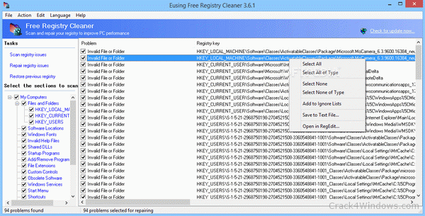 free download registry cleaner for windows 7 with crack