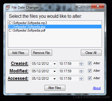 How to crack File Date Changer