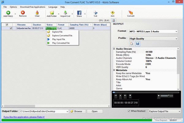 How to crack Free Convert FLAC To MP3