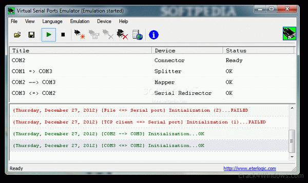 Virtual Serial Ports Emulator 1.0 Crack + License Key Updated