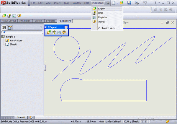 How to crack PLT Export for SolidWorks (formerly HPGL Export