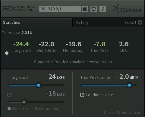 How to crack iZotope RX Loudness Control