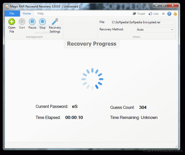 How to crack Magic RAR Password Recovery