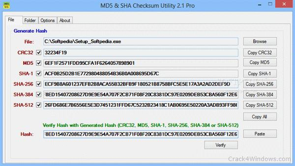 How to crack MD5 & SHA Checksum Utility Pro