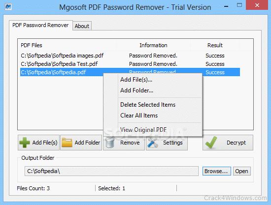 Mgosoft PDF Password Remover Full Crack + License Key Download