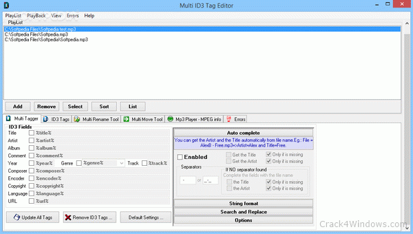 How to crack Multi ID3 Tag Editor