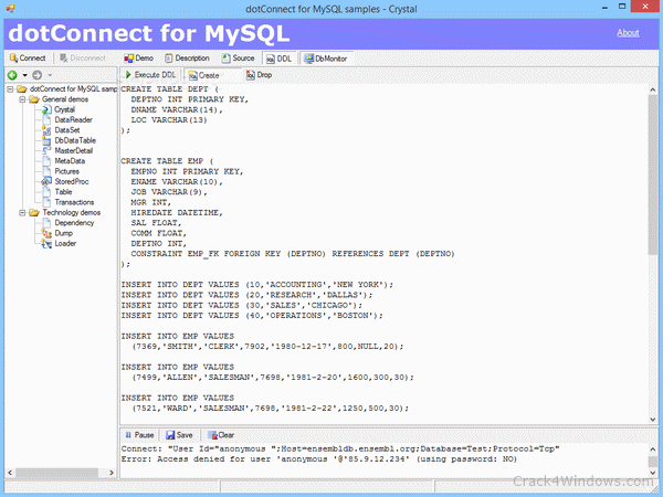 How to crack dotConnect for MySQL Professional