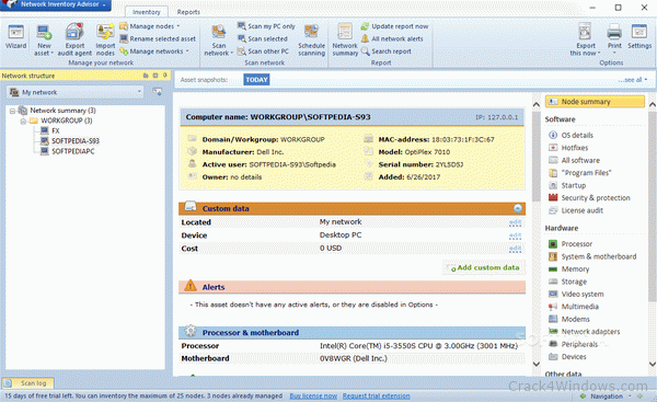 Network inventory advisor 5. 0. 155   software downloads   techworld.