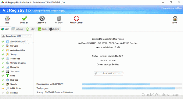 How to crack Portable Vit Registry Fix Professional