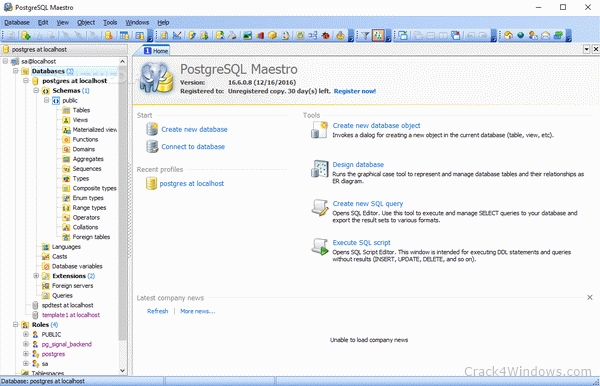 How to crack PostgreSQL Maestro