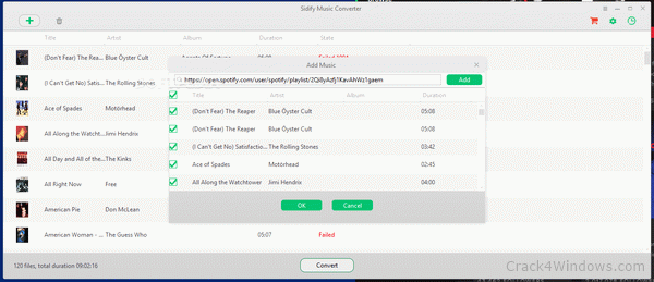 Sidify Crack Music Converter 1.4.1 Full Version With Crack free download