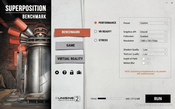 How to crack SUPERPOSITION Benchmark