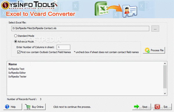 How to crack SysInfoTools Excel to vCard Converter