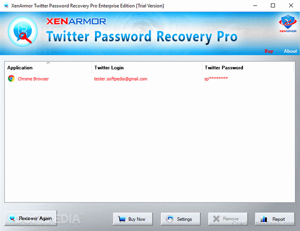 How to crack XenArmor Twitter Password Recovery Pro