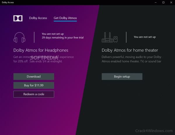 dolby atmos for headphones free redeem code